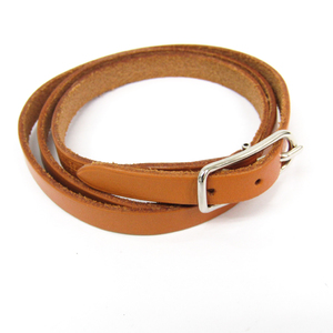 Hermes Hapi I Leather Wrap Bracelet Natural