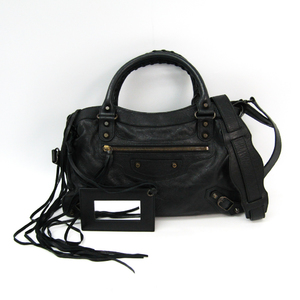 Balenciaga Town 240579 Women's Leather Handbag Black