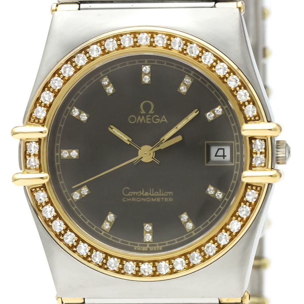 Omega Constellation Quartz Stainless Steel,Yellow Gold (18K) Men's Dress Watch 498.0876