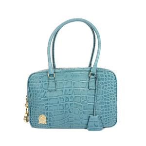 6be78c084814 Auth A.D.M.J Handbag Leather Light Blue