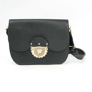 Furla DUCALE Women's Leather Shoulder Bag Black
