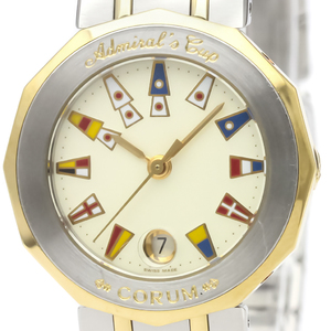 CORUM Admirals Cup 18K Gold Steel Ladies Watch 39.610.21