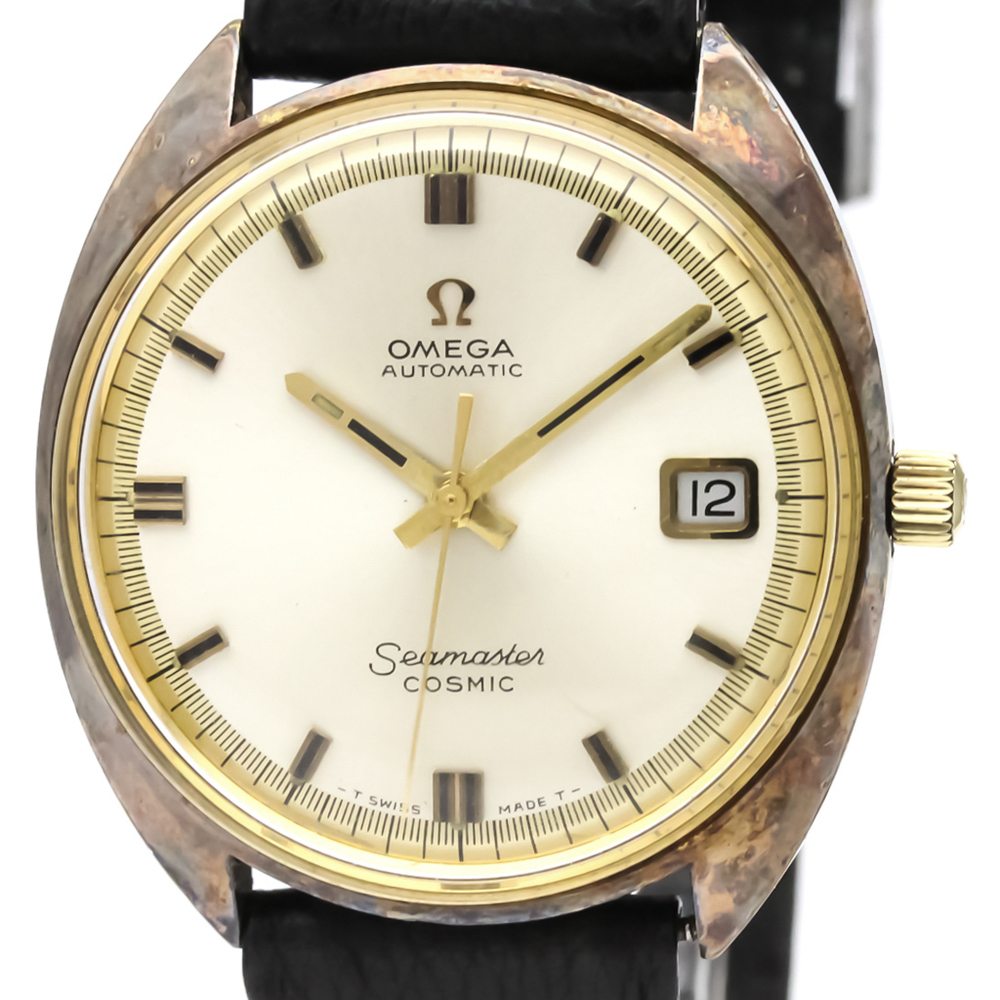 Omega Seamaster Automatic Gold Plated Men's Dress Watch 166.026
