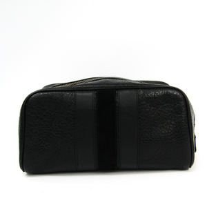 Coach F21387 Men's Leather Pouch Black