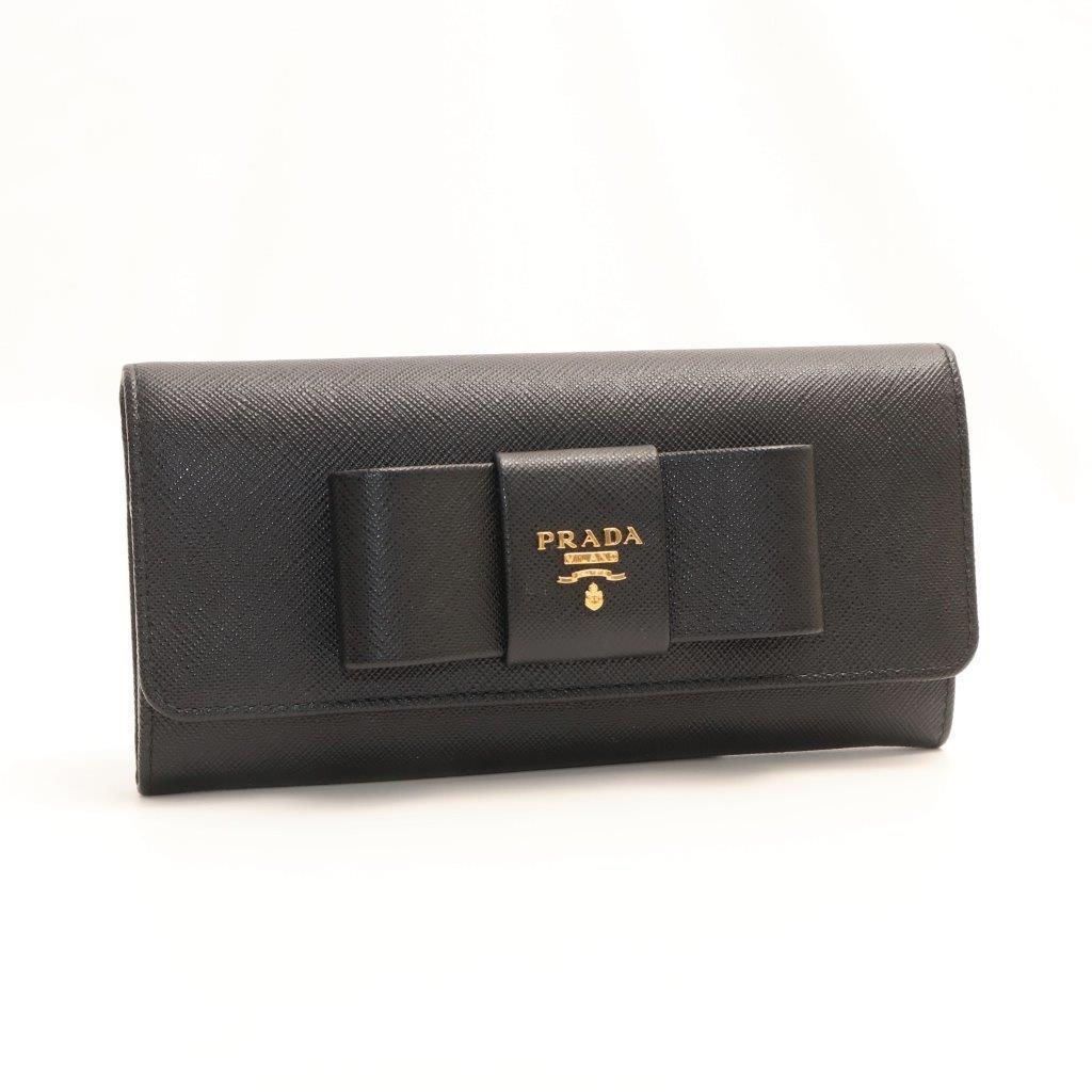 62beab1e2626 Details about Prada Saffiano 1 MH132 Women's Saffiano Long Wallet (bi-fold)  Black,Nero New