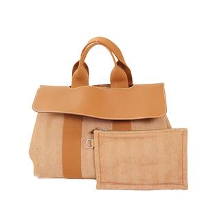 Auth Hermes Valparaiso PM Handbag Orange