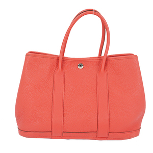 Auth Hermes Garden Party TPM Tote Bag □N Bougainvillier Silver