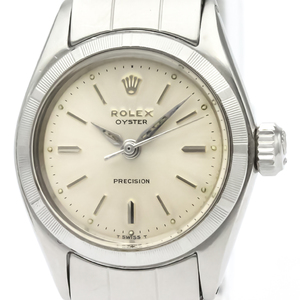 Rolex Oyster Precision Automatic Stainless Steel Women's Dress Watch 6411
