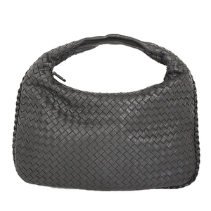 Auth Bottega Veneta Shoulder Bag Intrecciato Veneta Bag Black