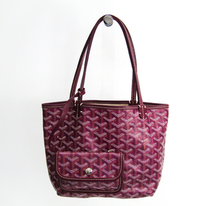 Goyard Saint Louis Junior Women's Leather,Canvas Tote Bag Purple