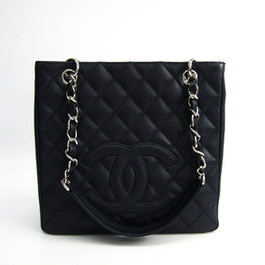 Chanel Caviar Skin Petit Shopping Tote PST A20994 Women's Caviar Leather Tote Bag Dark Navy