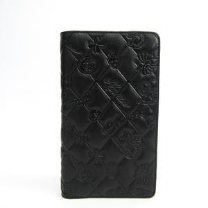 シャネル(Chanel) アイコン レザー 長財布(二つ折り) ブラック