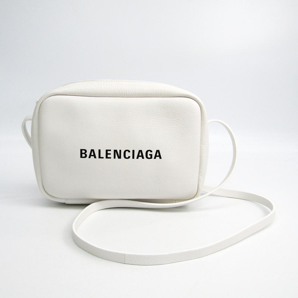 バレンシアガ(Balenciaga) エブリデイ カメラ バッグ S 489812 レディース レザー ショルダーバッグ ホワイト