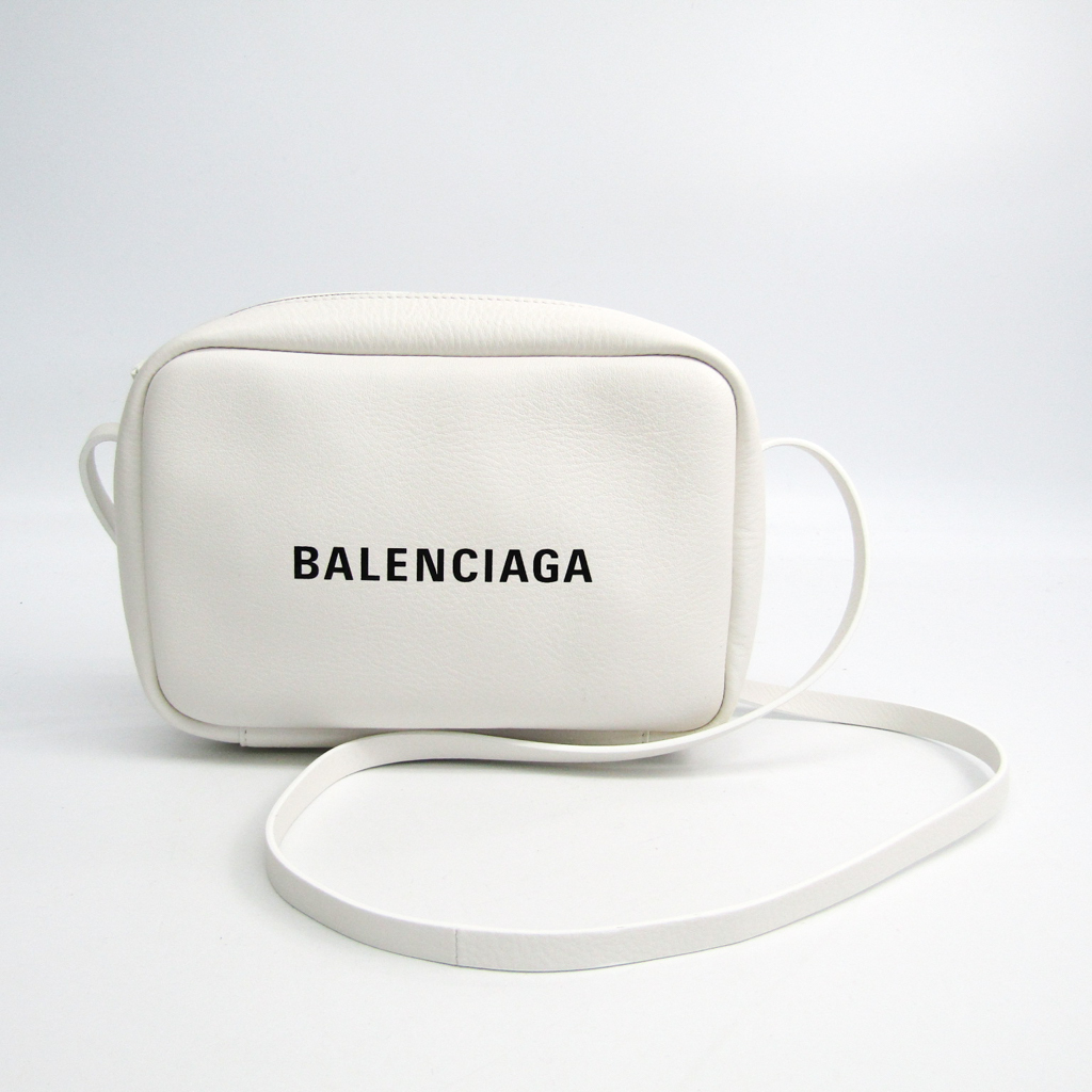 b2299c3d68 Balenciaga Everyday Camera Bag S 489812 Women's Leather Shoulder Bag Wh  BF337371