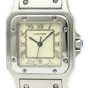 【CARTIER】カルティエ サントス ガルベ LM ステンレススチール クォーツ メンズ 時計 987901