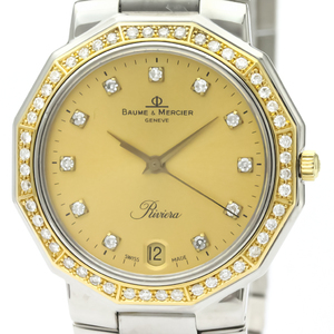 Baume & Mercier Riviera Quartz Stainless Steel,Yellow Gold (18K) Men's Dress Watch 5131.3
