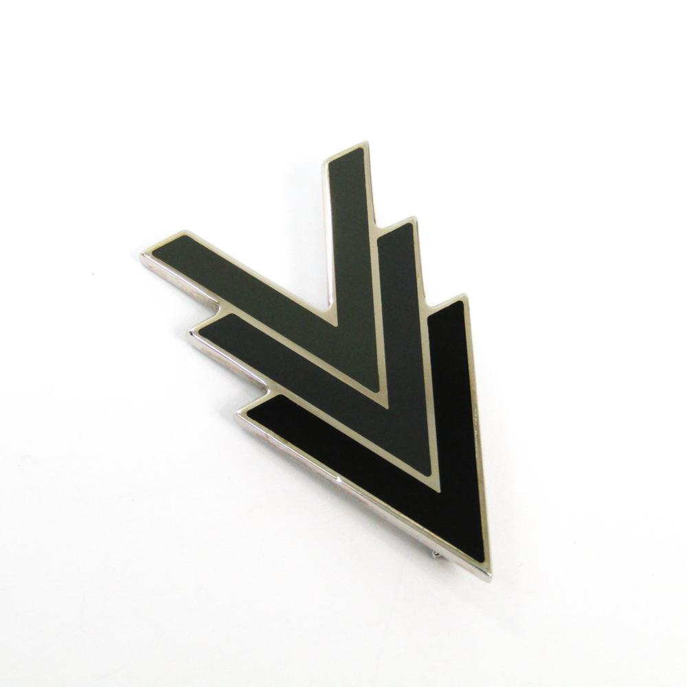 Louis Vuitton Triple V M00062 Metal Brooch Black,Dark Gray,Khaki