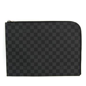 Louis Vuitton Damier Graphite Pochette Jules N41502 Men's Clutch Bag Damier Graphite