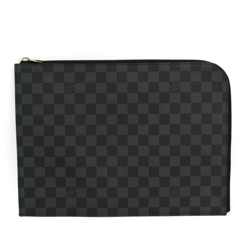 2d6bf4a2 Louis Vuitton Damier Graphite Pochette Jules N41502 Men's Clutch Bag ...