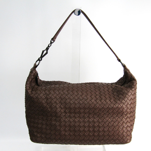 Bottega Veneta Intrecciato Women's Leather Shoulder Bag Brown