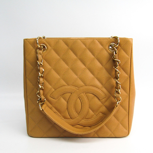 Chanel Caviar Skin Petit Shopping Tote PST A20994 Women's Caviar Leather Tote Bag Beige