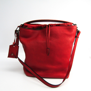 Burberry 3915116 Women's Leather Shoulder Bag Red