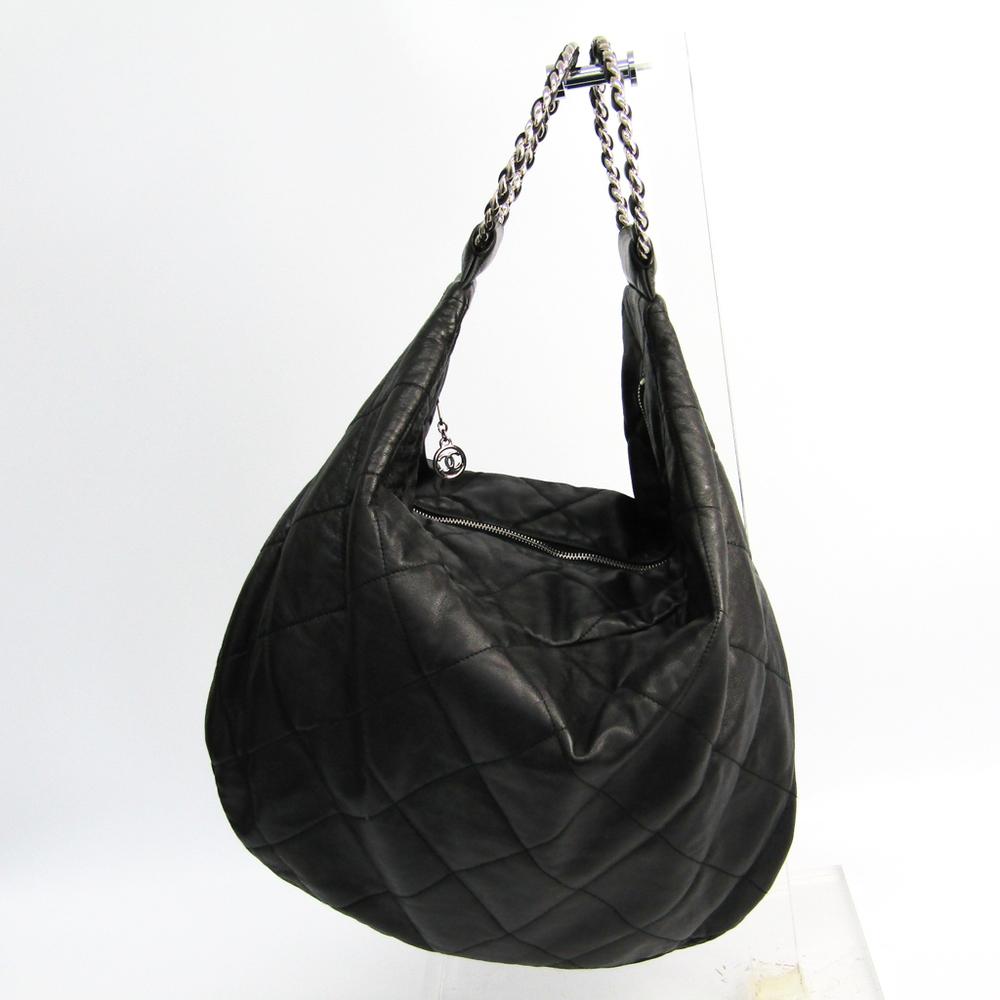 シャネル(Chanel) レディース レザー ハンドバッグ ブラック