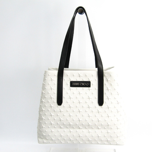 Jimmy Choo Sasha S Women's Leather Tote Bag Black,White