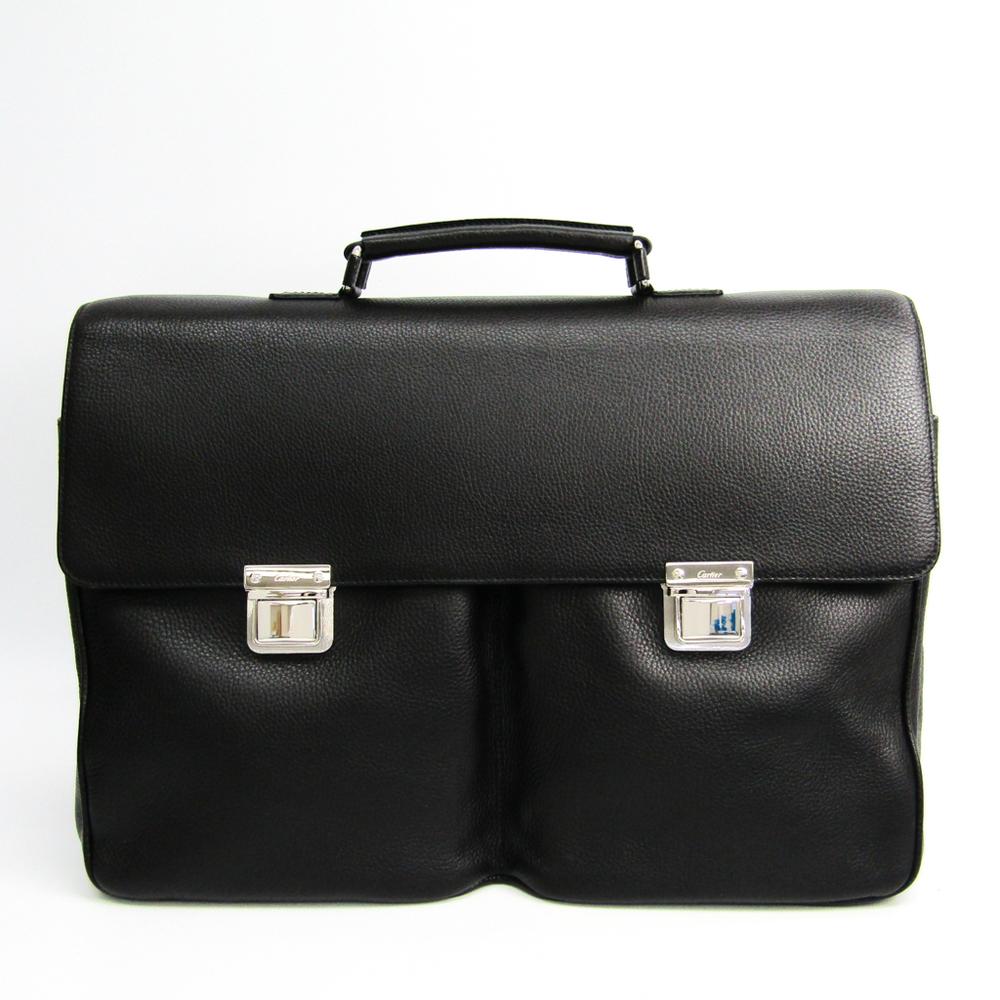 カルティエ(Cartier) L1001322 メンズ レザー ブリーフケース ブラック