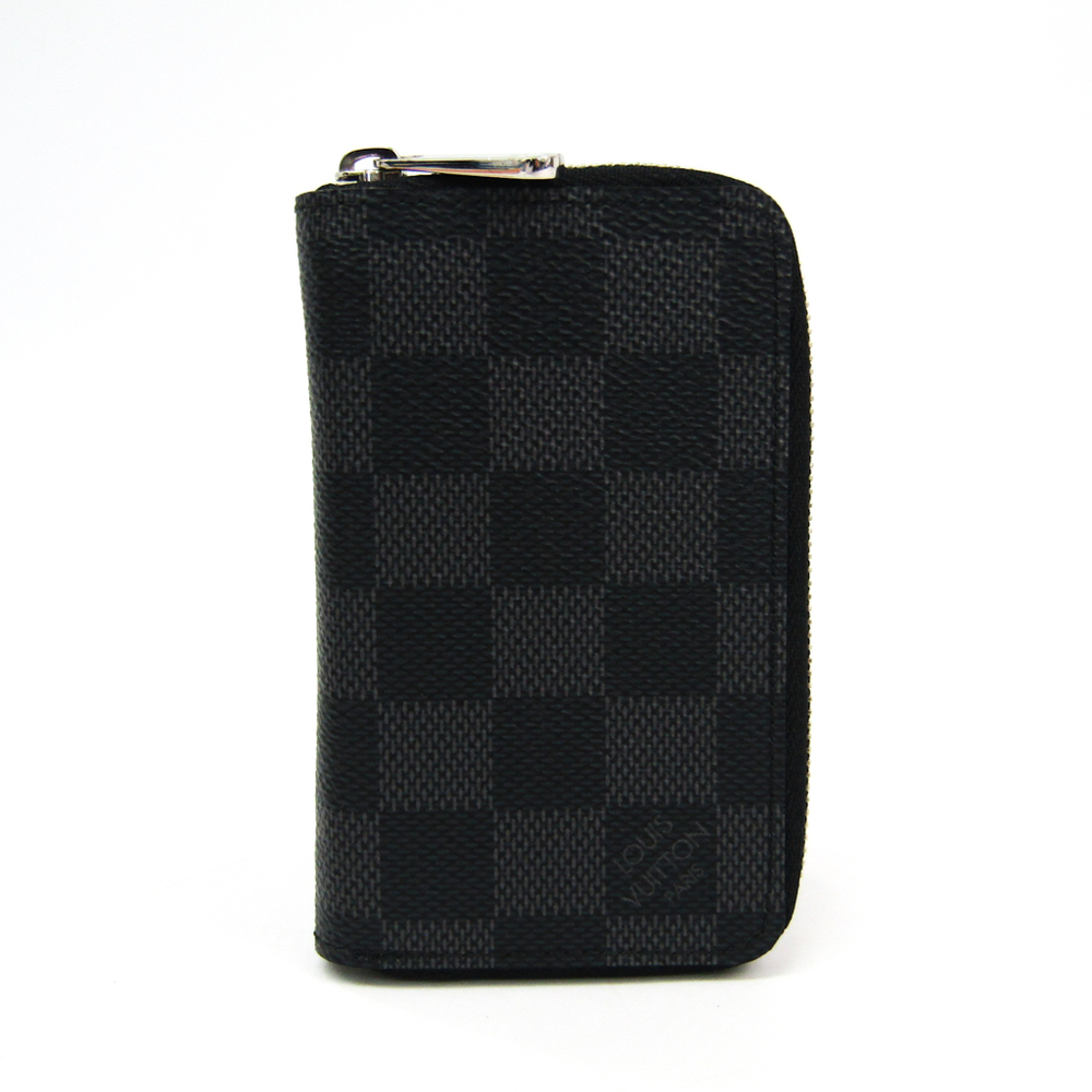 Louis Vuitton Damier Graphite Zippy Coin Purse N63076 Men's Damier Graphite Coin Purse/coin Case Damier Graphite