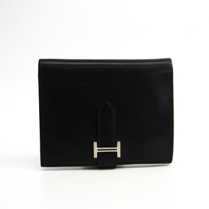 Hermes Bearn Box Calf Leather Wallet (bi-fold) Black