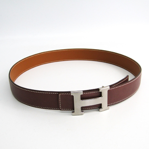 Hermes Constance H Belt Women's Leather Belt Brown 80