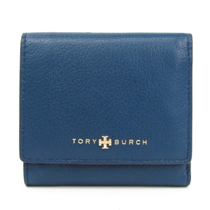 Tory Burch Women's Leather Wallet (tri-fold) Blue