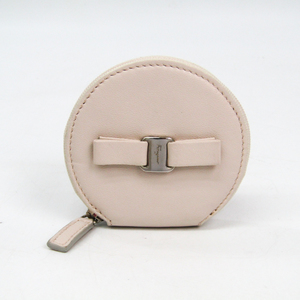 Salvatore Ferragamo Vara 22 C239 Women's Leather Coin Purse/coin Case Light Pink