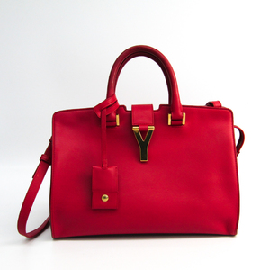 Saint Laurent Petit Cabass 311210 Women's Leather Handbag Red