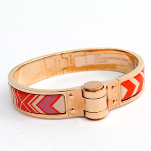 Hermes Charnière F WASHINGTON CARRI 512802F082S Cloisonné/enamel Bracelet Multi-color,Pink Gold Gold Plated