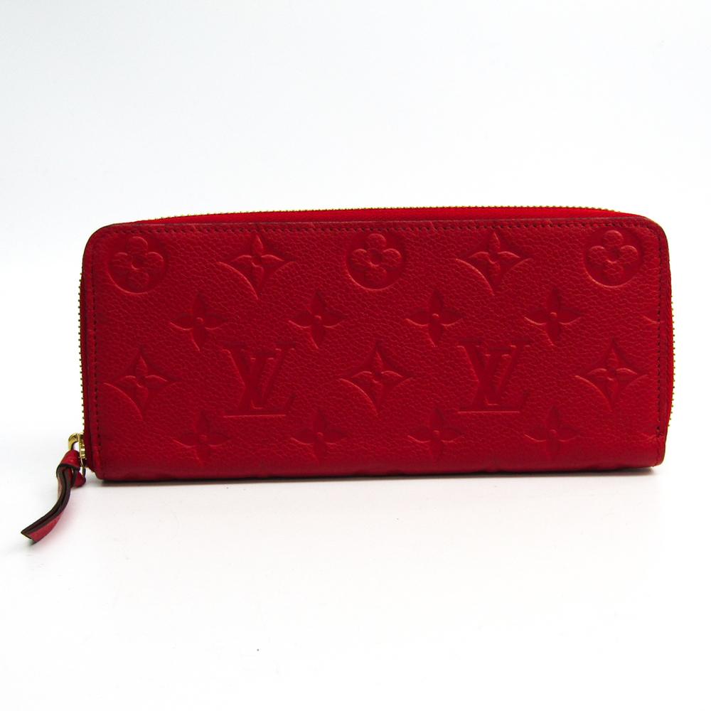 Louis Vuitton Monogram Empreinte Clemence Wallet M60169 Women's Monogram Empreinte Long Wallet (bi-fold) Cerise
