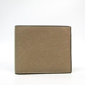Valextra V8L23-044-00AR-RD Unisex Leather Wallet (bi-fold) Dark Beige