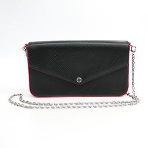 Louis Vuitton Epi Pochette Felice M64579 Women's Epi Leather Chain/Shoulder Wallet Hot Pink,Noir