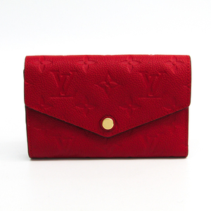 Louis Vuitton Monogram Empreinte Curieuse Wallet Compact M60735 Women's Monogram Empreinte Middle Wallet (tri-fold) Cerise