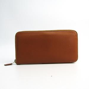 Hermes Azap Women's  Epsom Leather Long Wallet (bi-fold) Brown