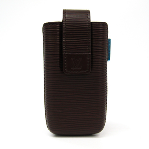 Louis Vuitton Epi Epi Leather Phone Case Mocha Etui telephone international PM M6308D