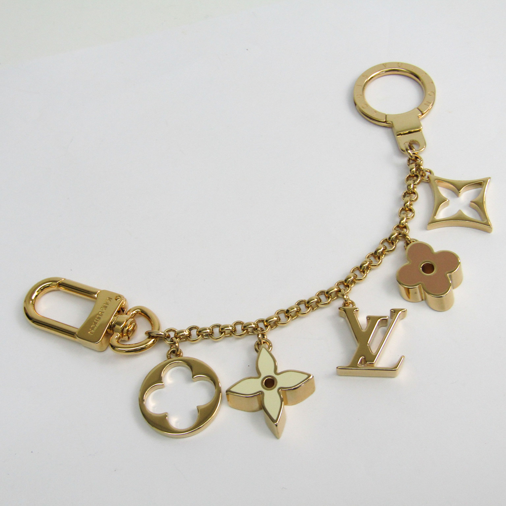 0321a503 Louis Vuitton Keyring Bag Charm Chain Fleur de Monogram ...