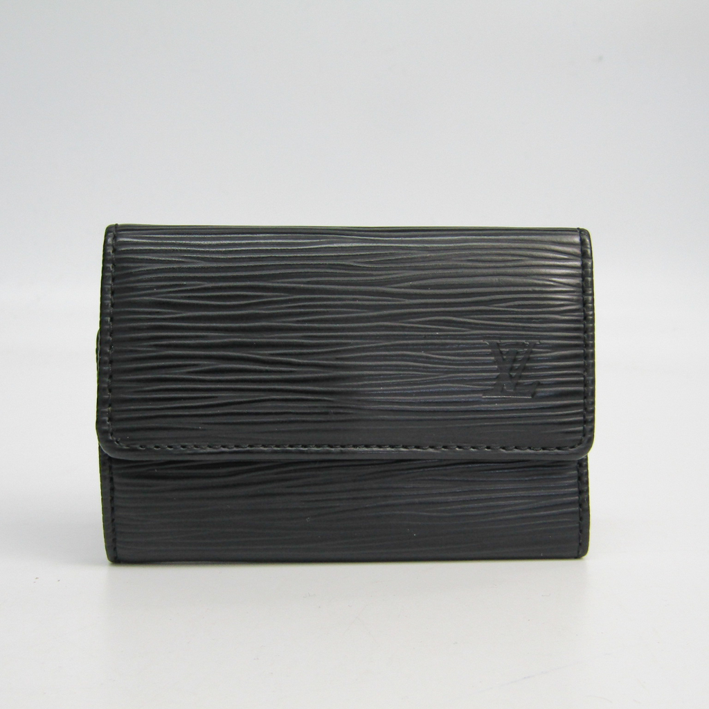 c27f4fee Details about Louis Vuitton Epi 6 Key Holder M63812 Unisex Epi Leather Key  Case Noir BF337603