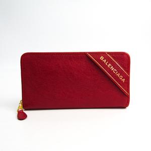 Balenciaga BLANKET 466544 Women's Leather Long Wallet (bi-fold) Red