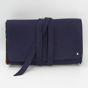 Hermes Women's Felt,Silk Clutch Bag Purple