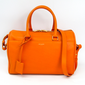 Saint Laurent Classic Duffle 322049 Women's Leather Handbag Orange