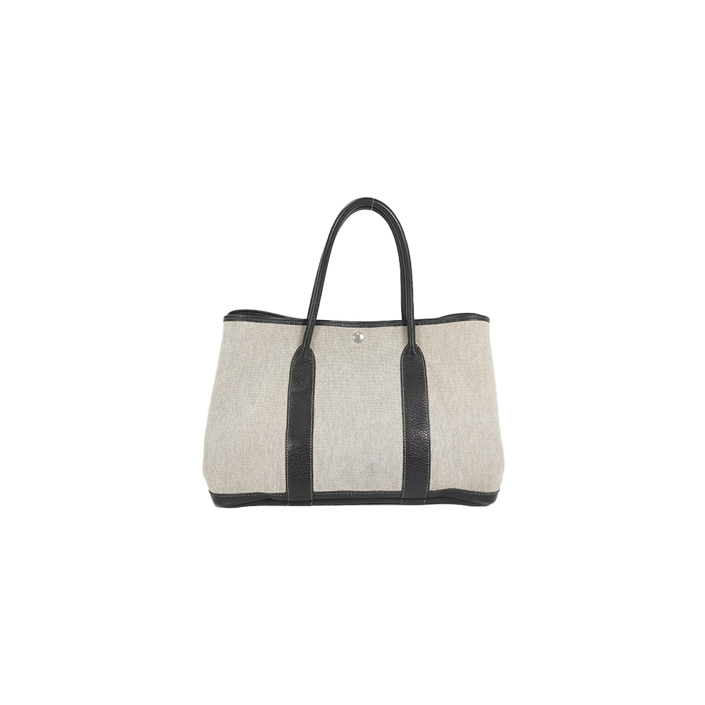 Auth Hermes Garden Party PM Tote Bag □G Gray