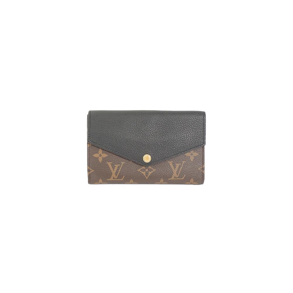 Auth Louis Vuitton Wallet Monogram Macassar Portefeuille Pallas Compact M60990