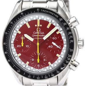 【OMEGA】オメガ スピードマスター ミハエル シューマッハ 赤文字盤 ステンレススチール 自動巻き メンズ 時計 3510.61